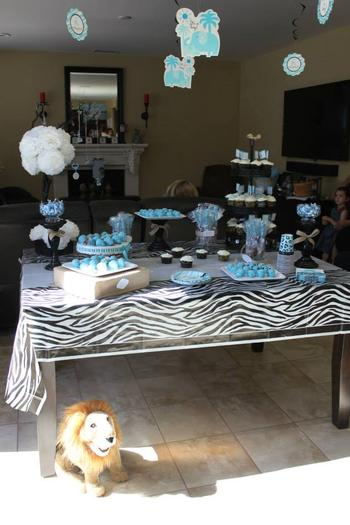 Safari Themed Surprise Baby Shower Baby Shower Ideas