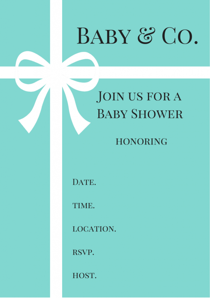 Free Tiffany Amp Co Inspired Baby Shower Invitations Baby