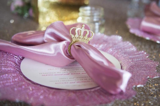 Royal Pink and Gold Baby Shower napkin ring