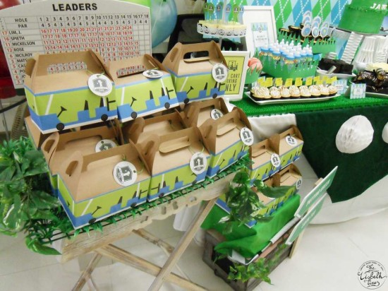 First Masters Tournament baby shower cart boxes