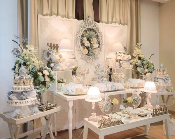 Charming-Silver-Blue-Sky-Baby-Shower-Buffet