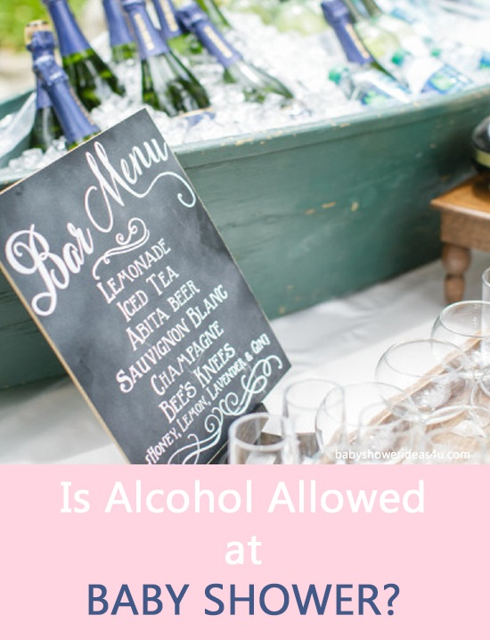 Is Alcohol Allowed at Baby Shower?