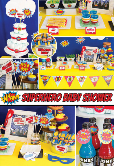 Superhero Baby Shower Decorations Package