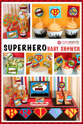 Superhero Baby Shower Package