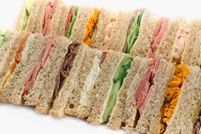 Tea party sandwiches variety