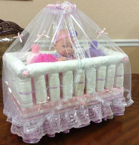baby-in-a-crib-diaper-cake