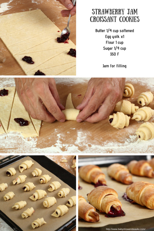 making-strawberry-jam-croissant-cookies