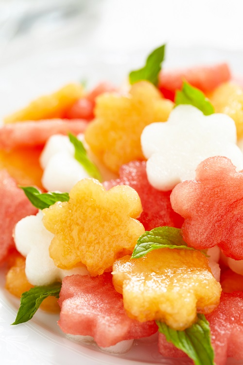 simple-baby-shower-food-ideas-fruit-salad-with-melon-and-watermelon