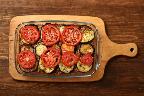simple-baby-shower-food-ideas-roasted-eggplant-with-tomato