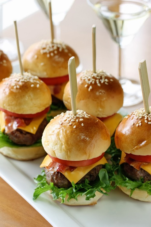 simple-baby-shower-food-ideas-mini-beef-tomato-cheese-lettuce-burgers