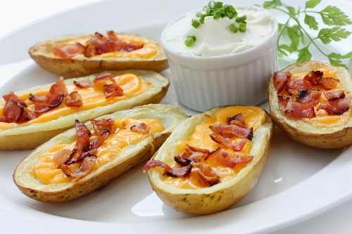 simple-baby-shower-food-ideas-potato-skin-cheese-bacon