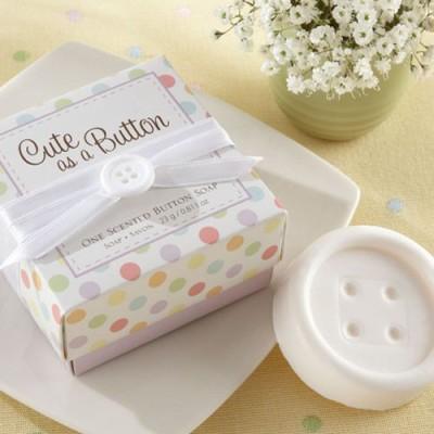 Cute as a Button Button Soap Favor
