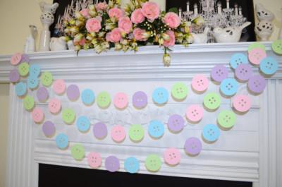 Cute as a button Garland, baby buttons garland
