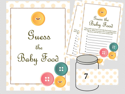 cute as a button baby shower games printable