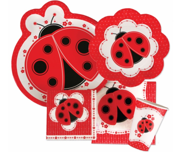 ladybug themed baby shower tableware supplies