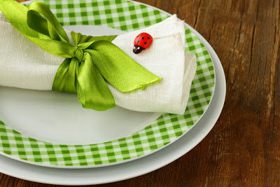 Ladybug table setup idea