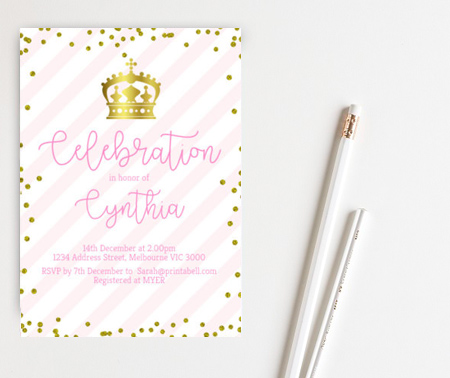 editable princess invitation