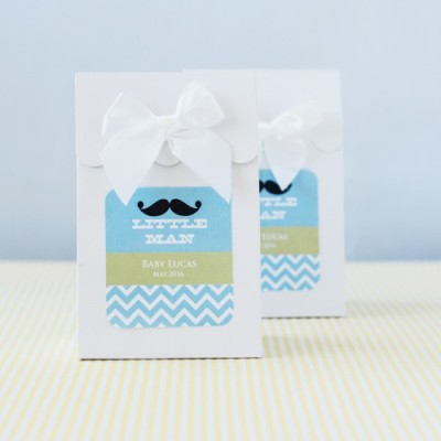 little man baby shower bags