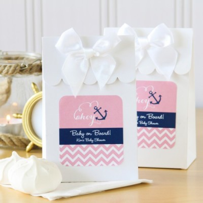 pink nautical baby shower bags