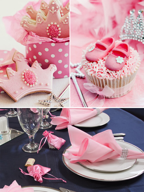 pink and silver princess theme