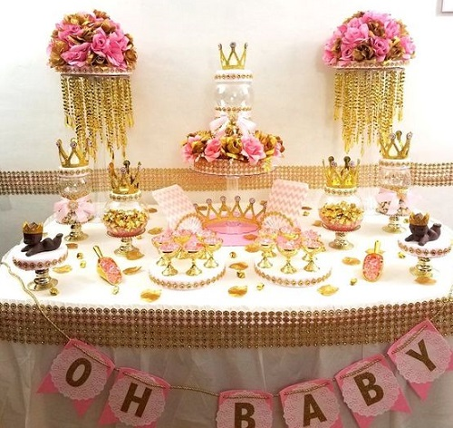 Crown Royal Princess Baby Shower Centerpiece