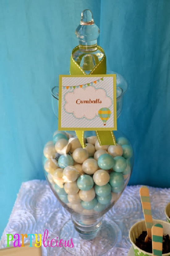 shimmer white and blue gumballs