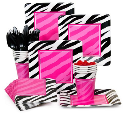 pink and black and white stripes