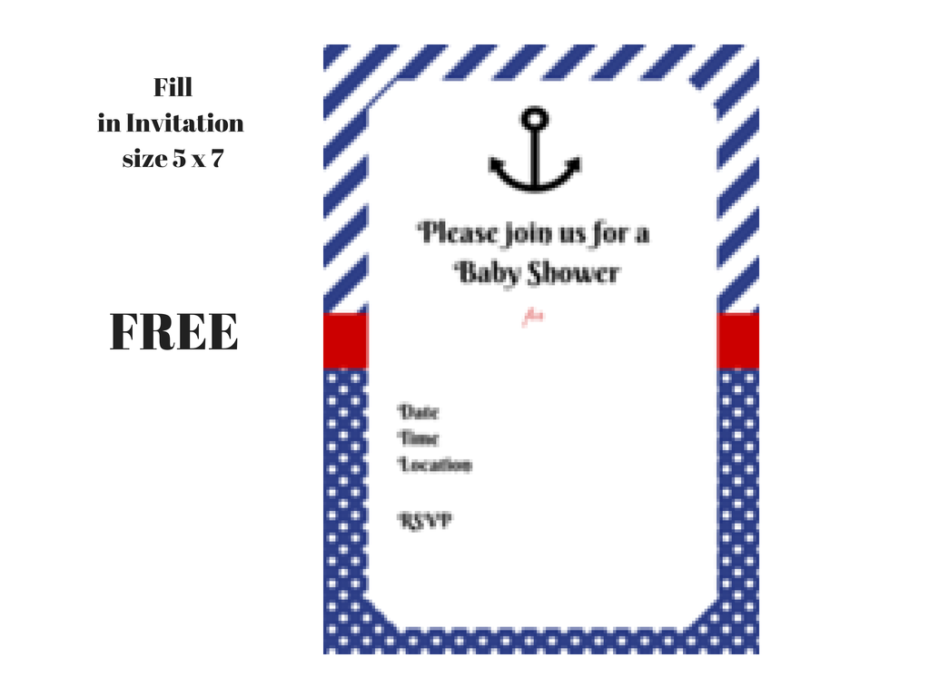free nautical baby shower printable invitation