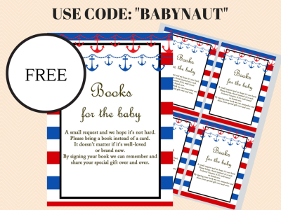 Free printable diaper raffle cards and sign, Books for the baby inserts