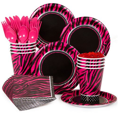 elegant zebra theme supplies