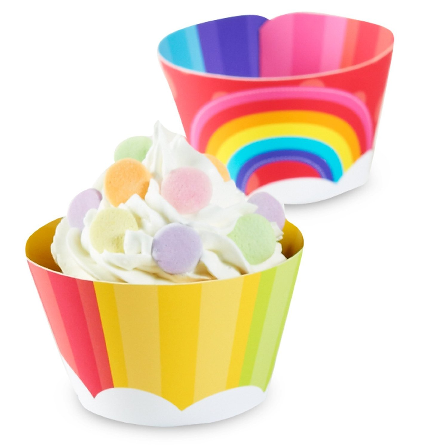 hot air balloon baby shower rainbow baby shower cupcake liner