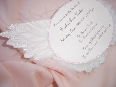 Angel Wing Invitation, Angel Baby Shower Invite
