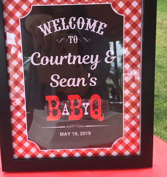 BBQ Coed baby shower sign