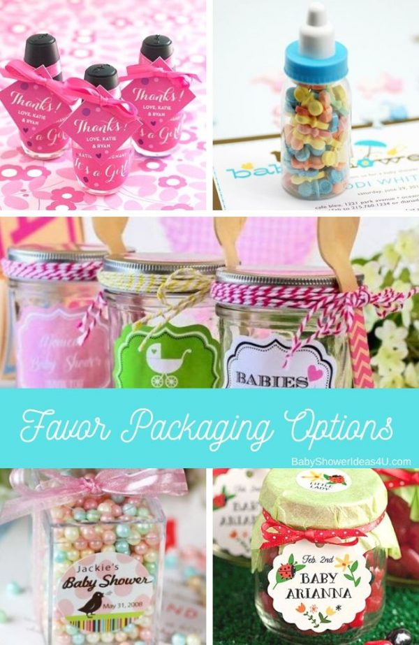 Baby Shower Candy Favor Packaging Options