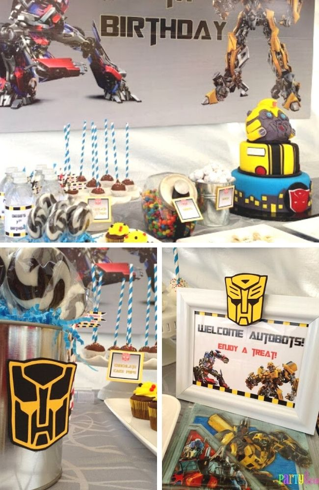 Classic Transformer Themed Birthday Party Tablescape