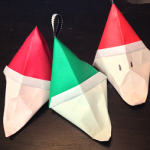 DIY Santa Claus Origami Favor Box