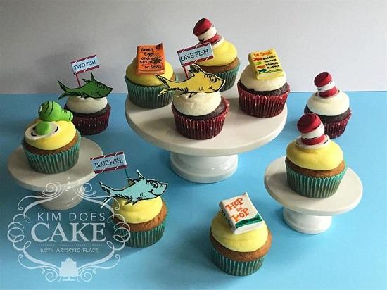Dr Seuss Fondant Cupcake Toppers