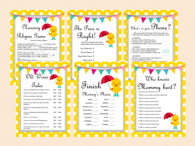 duck-theme-baby-shower-game-pack-neutral-duck-theme-whimsical-duck-baby-shower-games-printables-yellow-polka-dots-tlc30-400x300