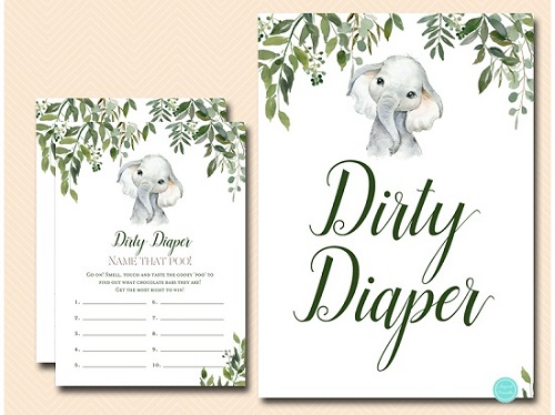 Elephant Dirty Diaper Game