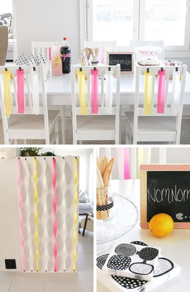 Funky and Modern Baby Shower Celebration Tablescape