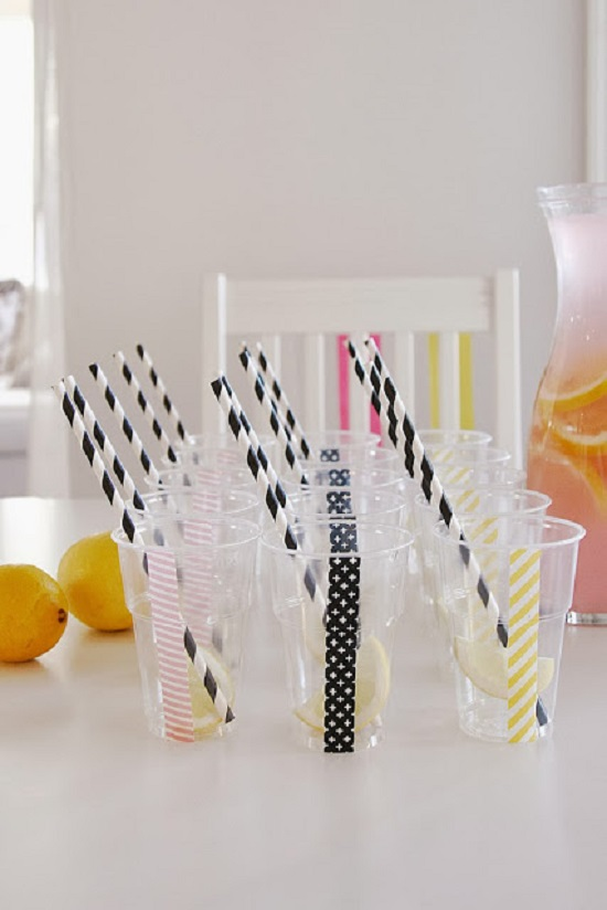 Funky and Modern Baby Shower drinking wear