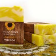 sunflower Handmade Soap Favors