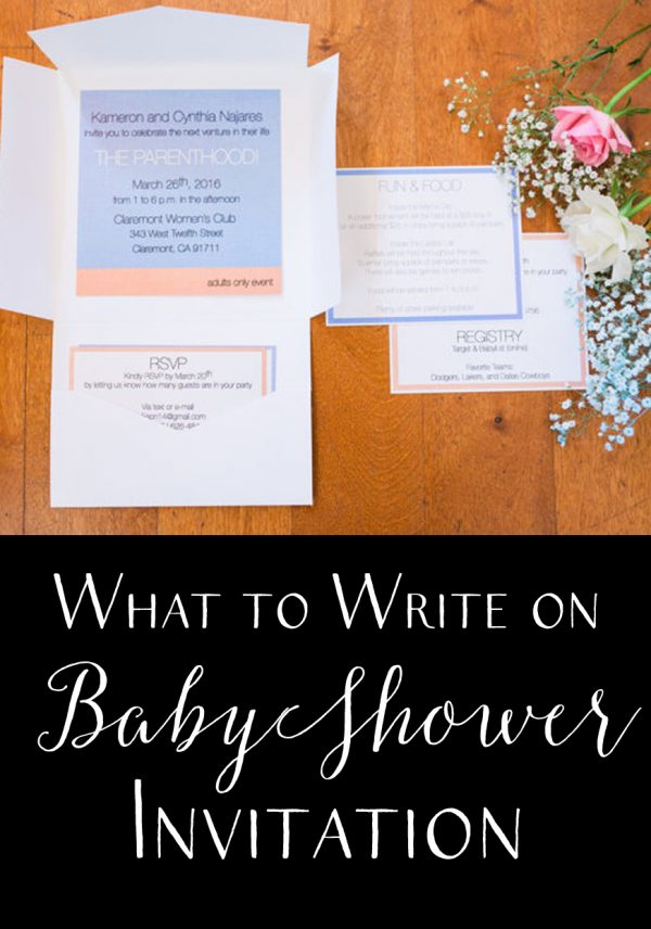 How and What to Write on Baby Shower Invitation