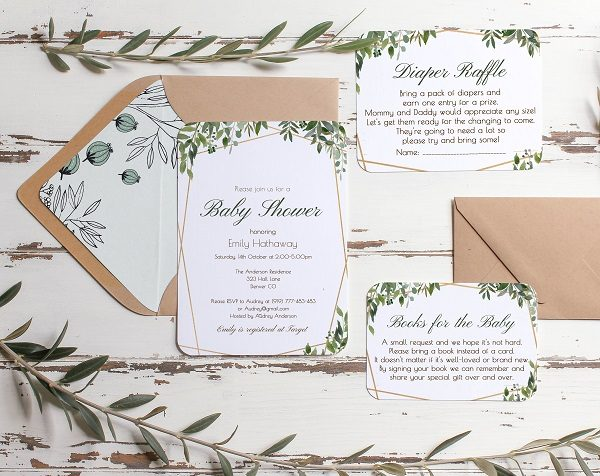 How and What to Write on Baby Shower Invitation template