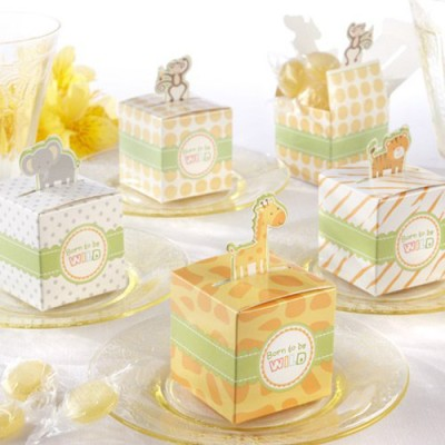 Mini Jungle Animal baby shower Favor Boxes