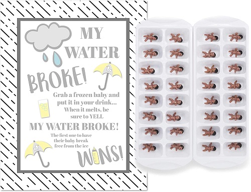 My Water Broke Baby Shower Game Ice Cube Game