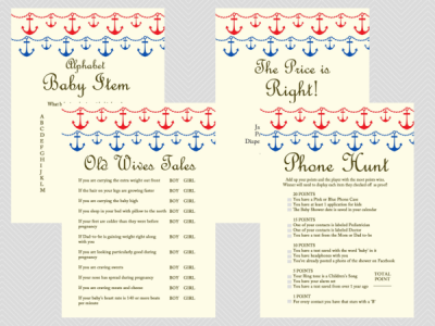 Nautical-Beach-Baby-Shower-Games-Printables-Instant-download-Anchor-Sea-Theme-Blue-Red-Unique-Baby-Shower-Games-TLC13