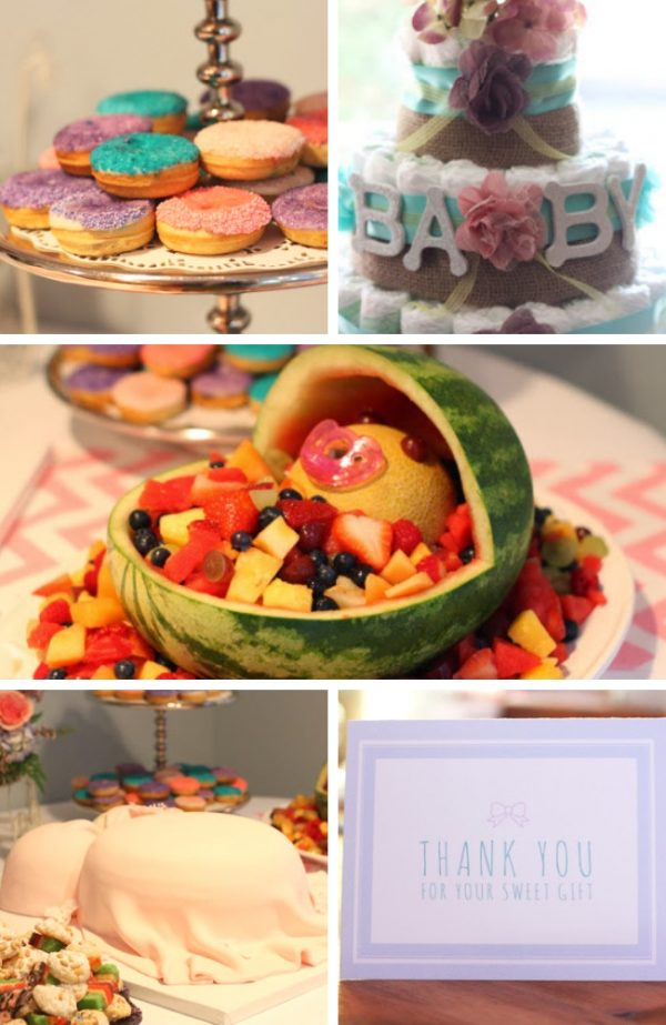 Pretty and Modern Baby Shower party photos