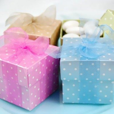 Square Favor Boxes baby shower