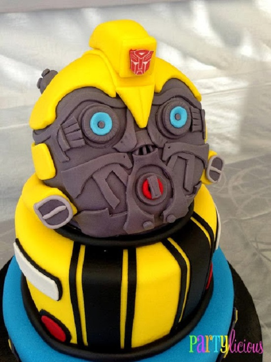Transformer Bumblebee birthday cake